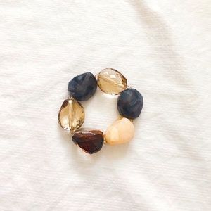 4/$22 Multi Faceted Faux Gemstone Stretch Bracelet